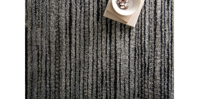 EMORY Collection Rug  in  GREY / BLACK