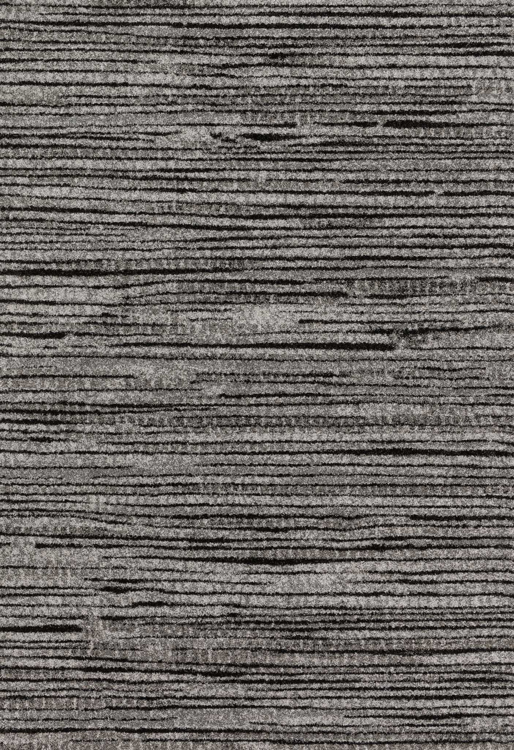 EMORY Collection Rug  in  GREY / BLACK Gray Runner Power-Loomed Polypropylene