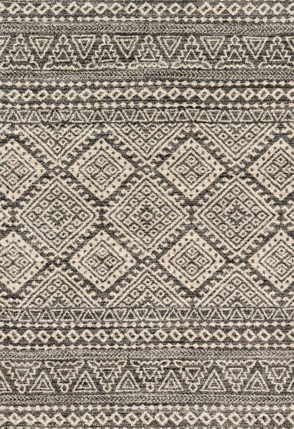 EMORY Collection Rug  in  GRAPHITE / IVORY Gray Runner Power-Loomed Polypropylene