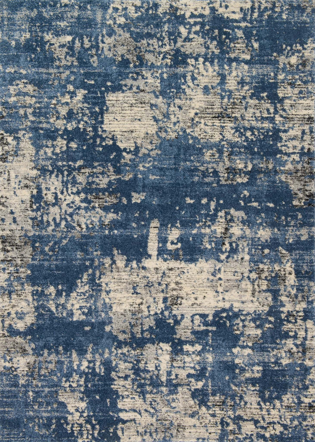 EMORY Collection Rug  in  BLUE / GRANITE Blue Runner Power-Loomed Polypropylene