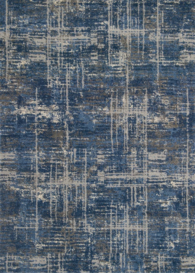 EMORY Collection Rug  in  BLUE / GREY Blue Runner Power-Loomed Polypropylene