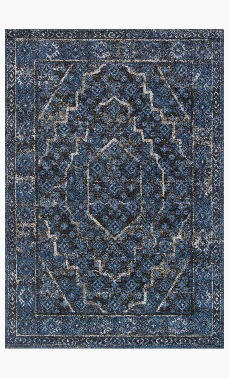 EMORY Collection Rug in DENIM / GREY