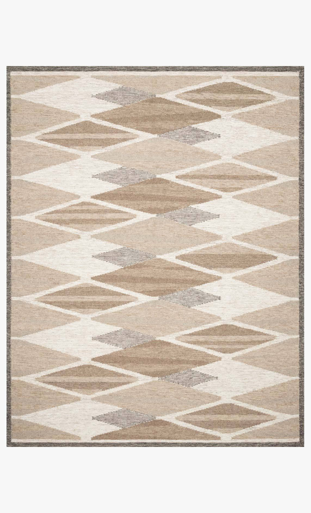 Evelina Collection Rug in Taupe / Bark