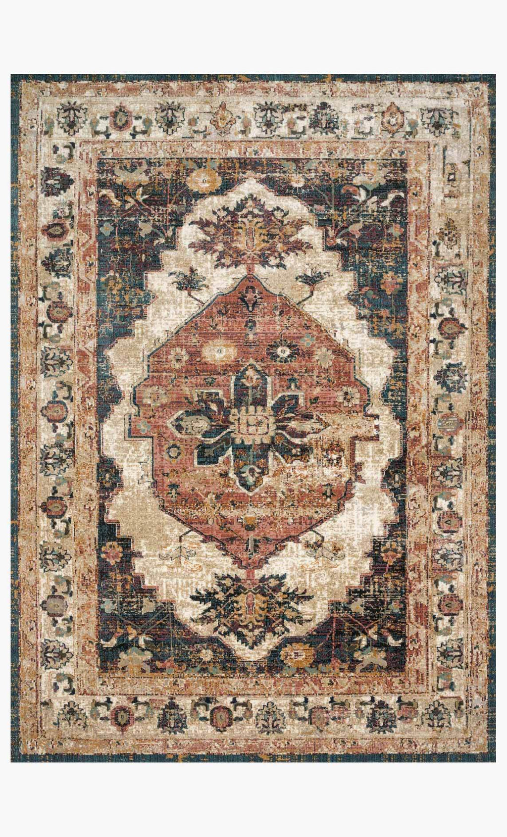 Evie Collection Rug in IVORY / SPICE