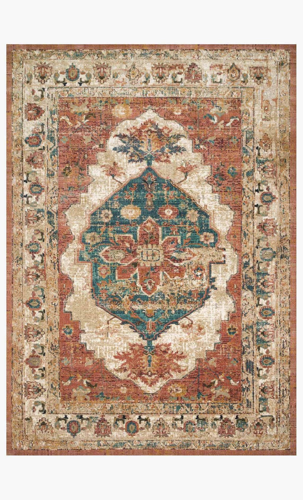 Evie Collection Rug in SPICE / MULTI