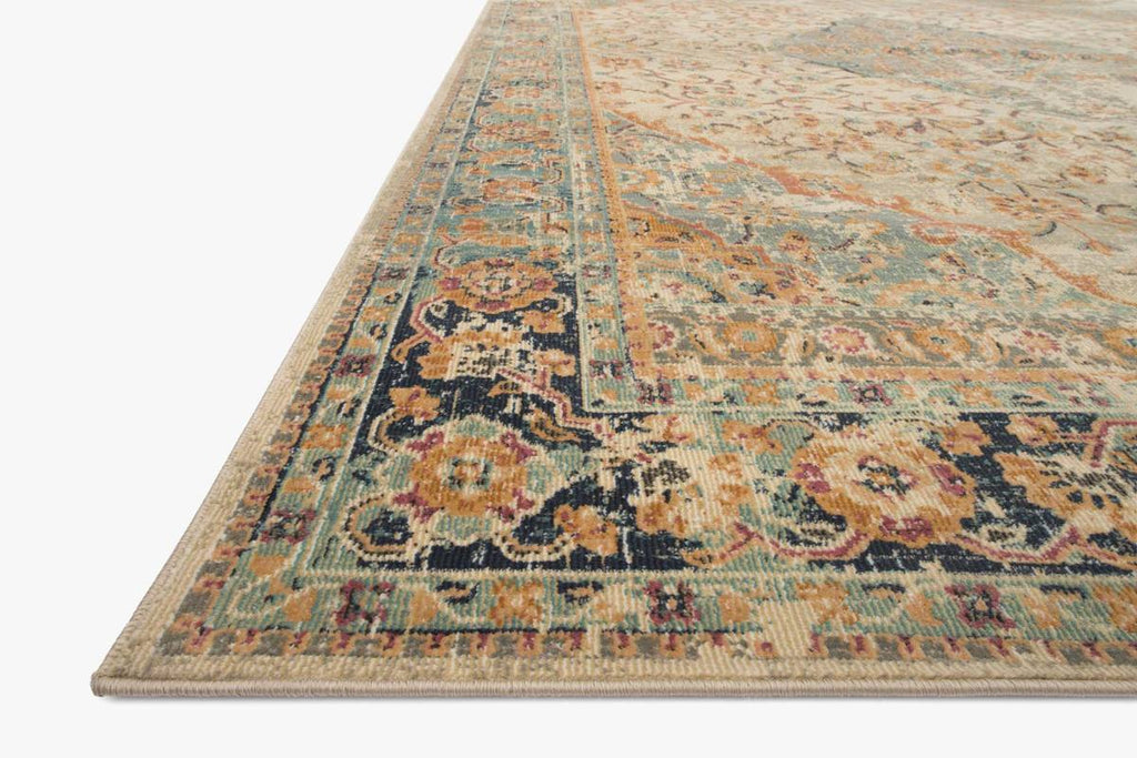 Evie Collection Rug in SAND / MULTI