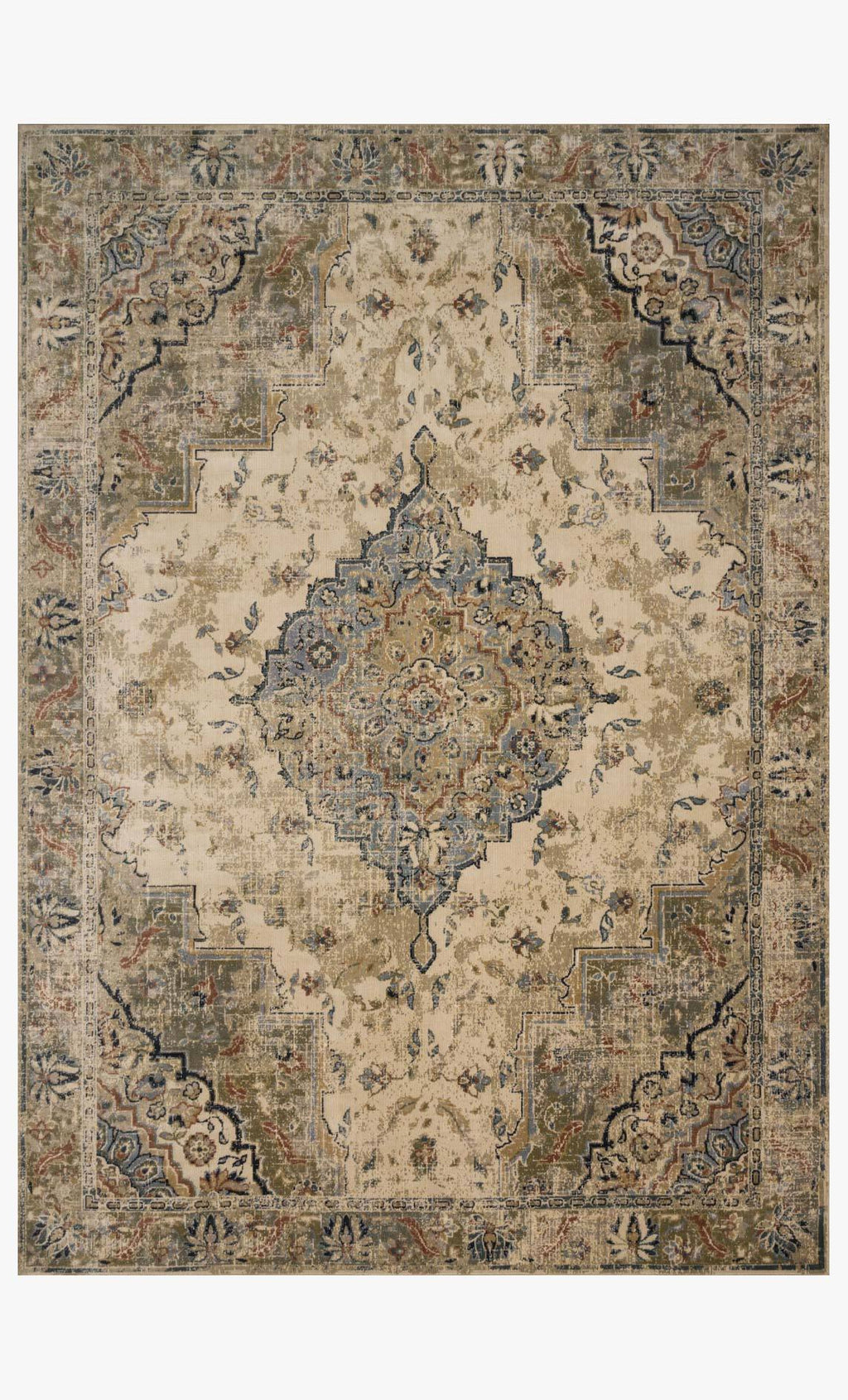 Evie Collection Rug in SAND / SAGE