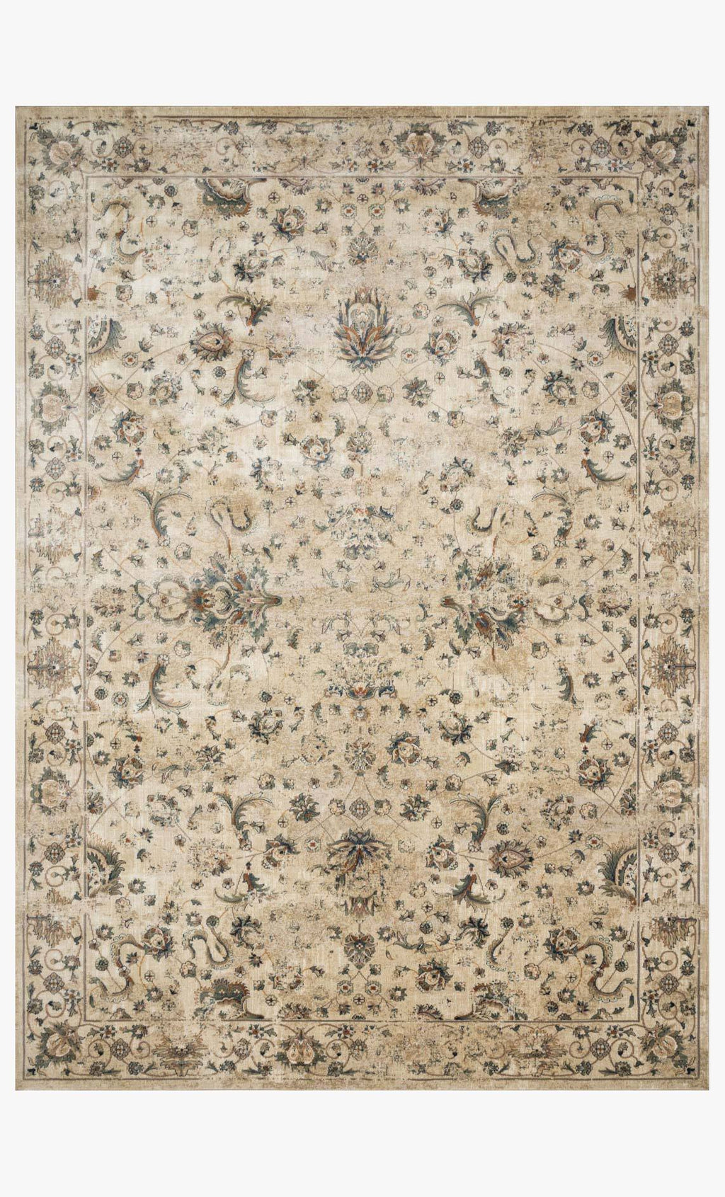 Evie Collection Rug in IVORY / MULTI