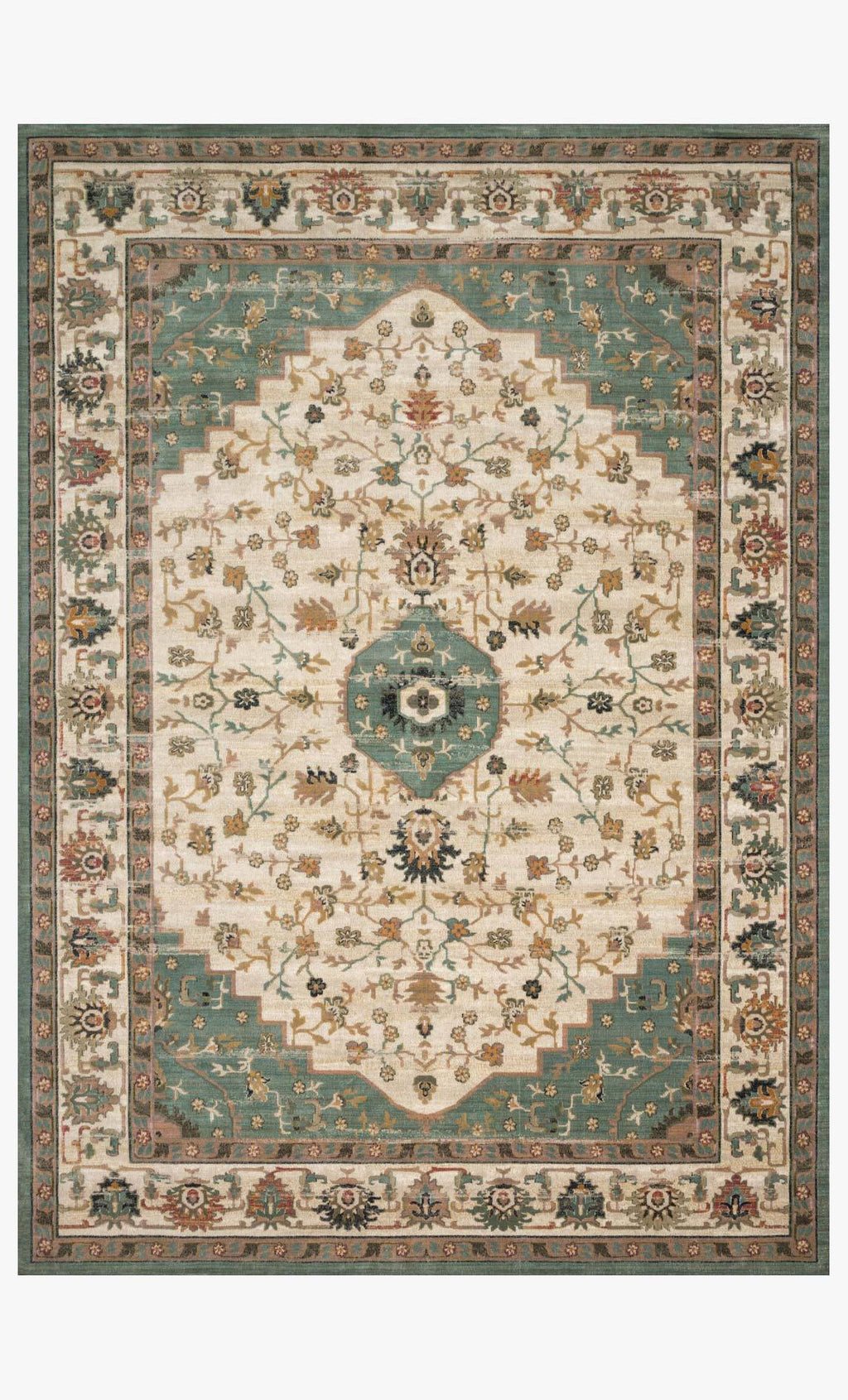 Evie Collection Rug in IVORY / JADE