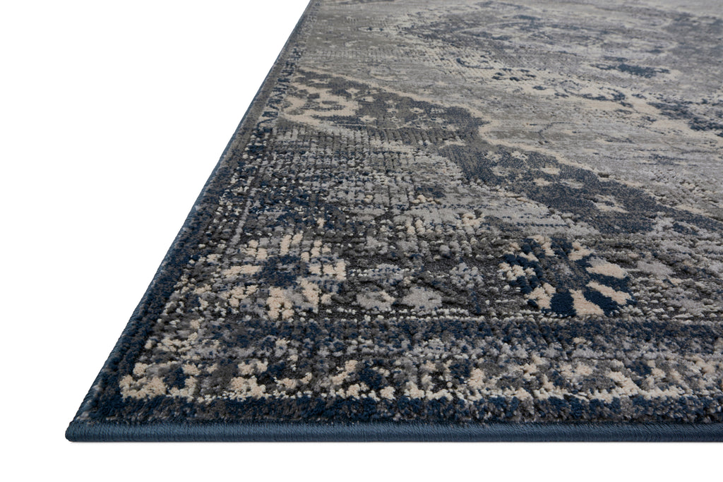 EVERLY Collection Wool/Viscose Rug in SILVER / GREY Gray Accent Power-Loomed Wool/Viscose