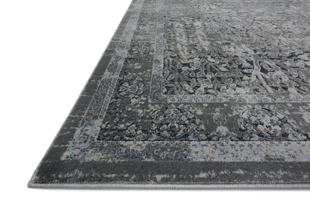 EVERLY Collection Wool/Viscose Rug in GREY / GREY Gray Accent Power-Loomed Wool/Viscose