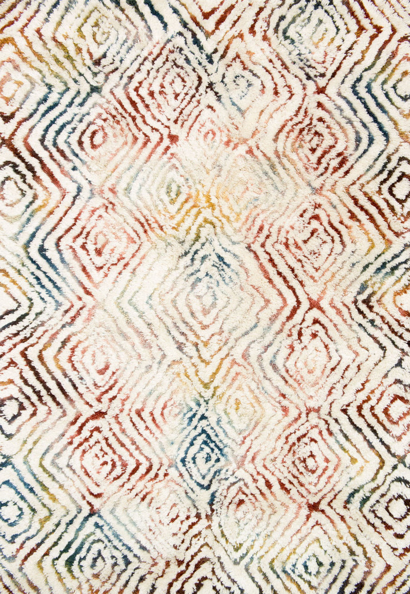 FOLKLORE Collection Rug  in  IVORY / PRISM Ivory Small Hand-Woven Polyester/Wool