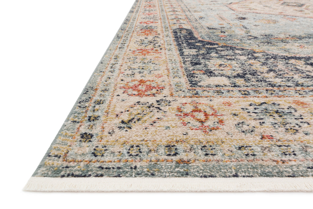 GRAHAM Collection Rug  in  BLUE / ANT. IVORY Blue Accent Power-Loomed Polypropylene