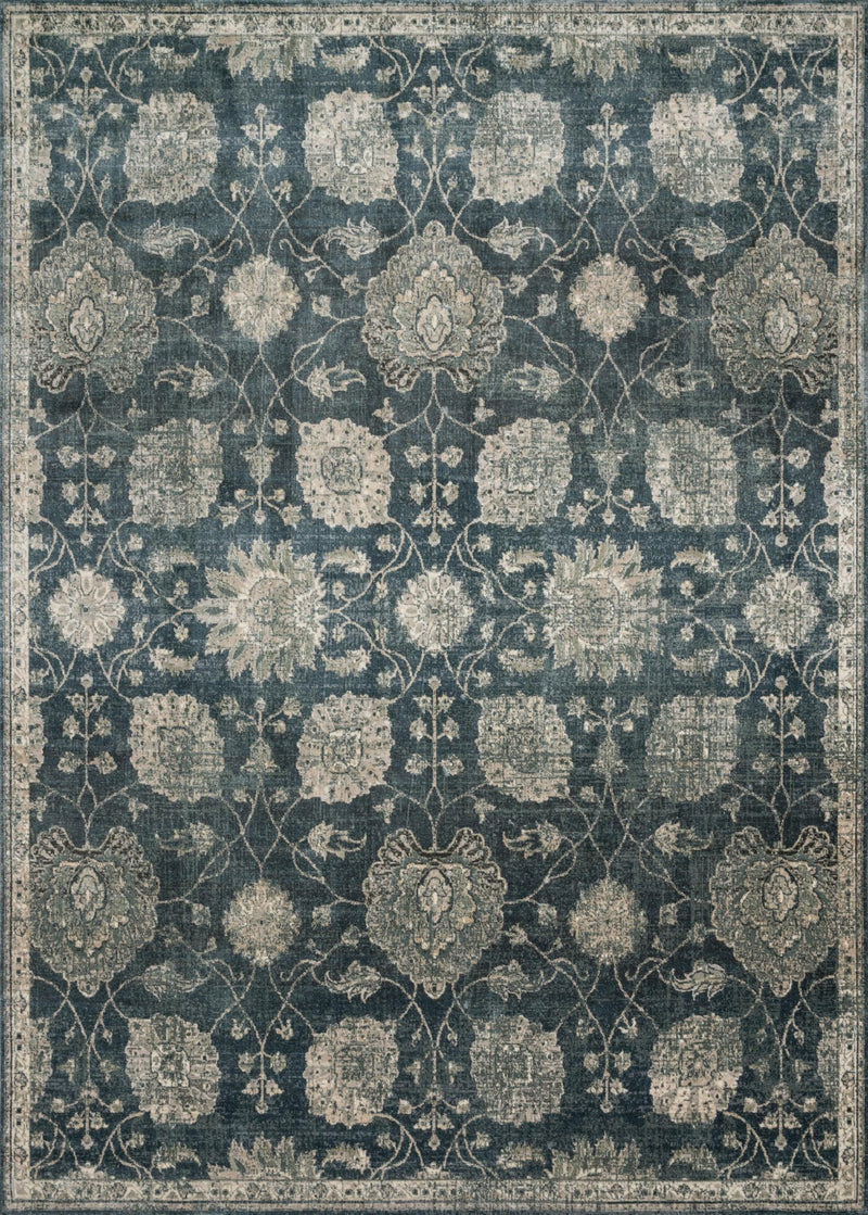 GRIFFIN Collection Rug  in  MIDNIGHT Blue Runner Power-Loomed Viscose