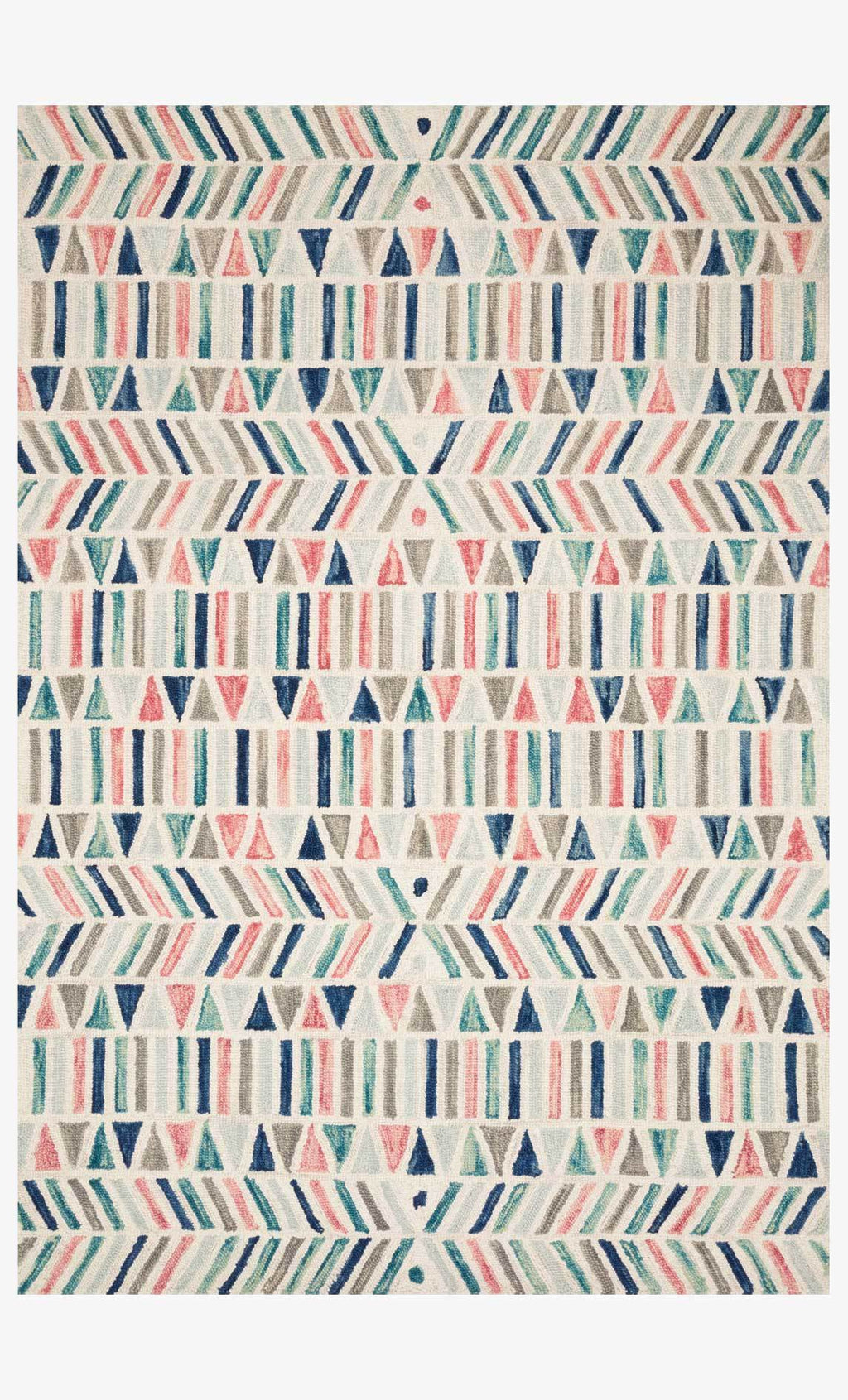 HALLU Collection Rug  in  IVORY / MULTI