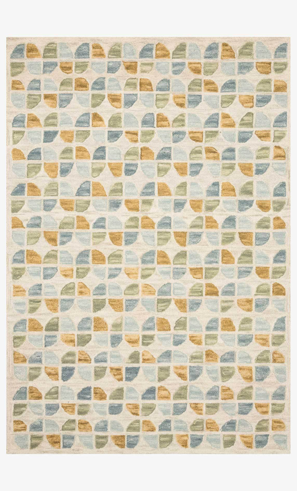 HALLU Collection Rug  in IVORY / SKY