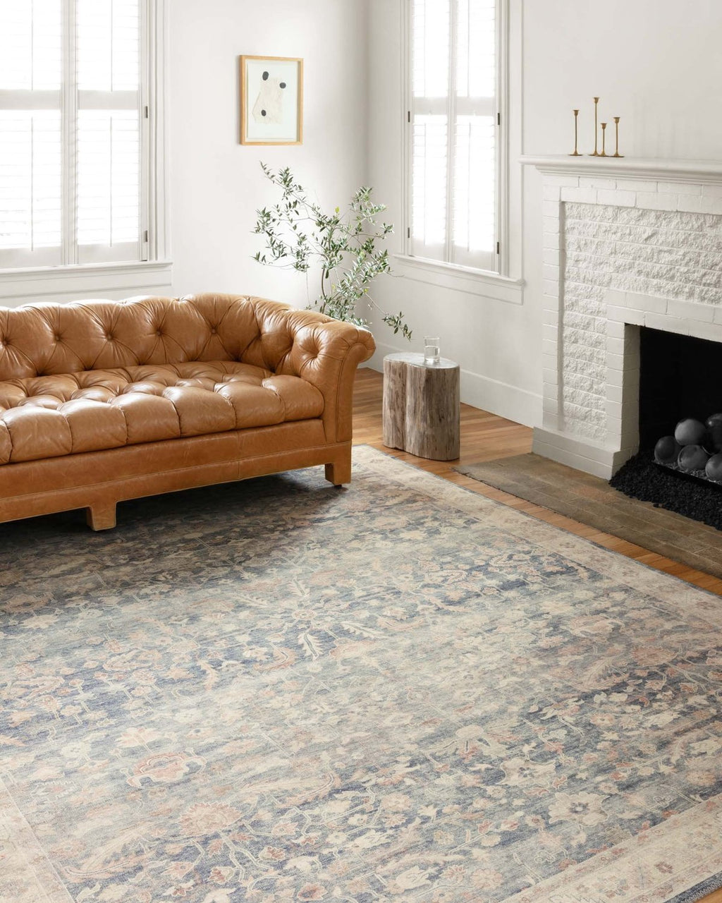 Hathaway Collection Rug in Denim / Multi