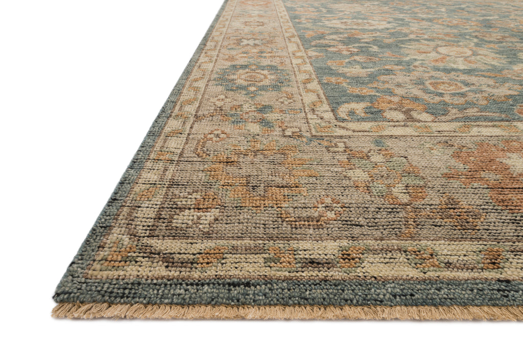 HEIRLOOM Collection Rug  in  BLUE / BEIGE Blue Accent Hand-Knotted Viscose
