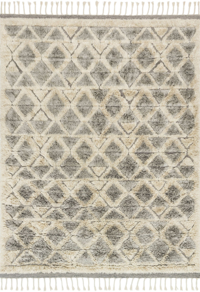 HYGGE Collection Wool Rug  in  SMOKE / TAUPE Gray Small Hand-Loomed Wool