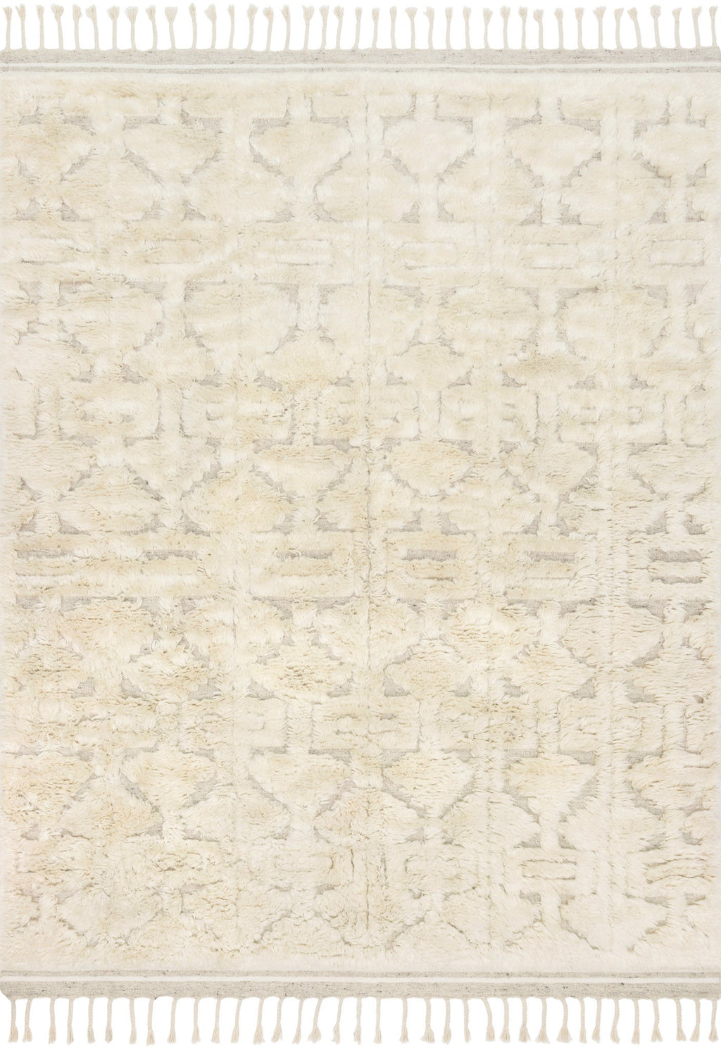 HYGGE Collection Wool Rug  in  OATMEAL / IVORY Beige Small Hand-Loomed Wool