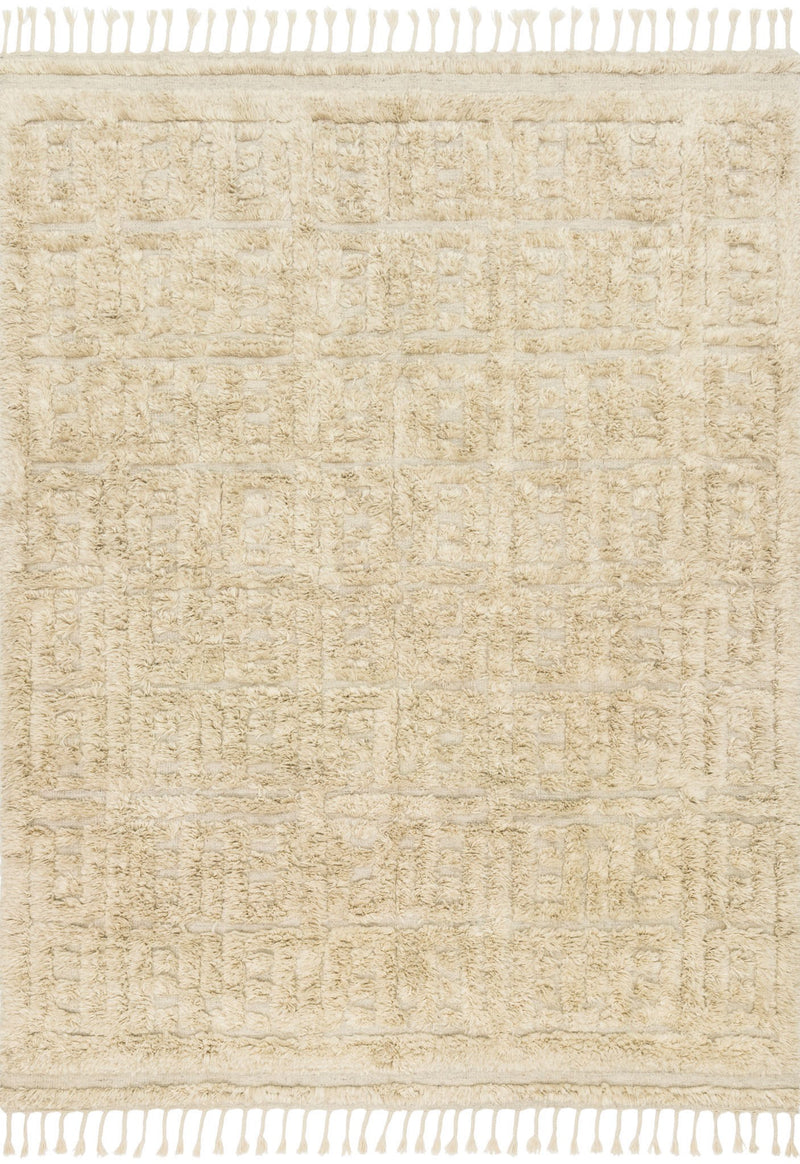 HYGGE Collection Wool Rug  in  OATMEAL / SAND Beige Small Hand-Loomed Wool