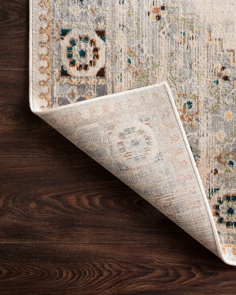 ISADORA Collection Rug  in  OATMEAL / SILVER Beige Accent Power-Loomed Polypropylene