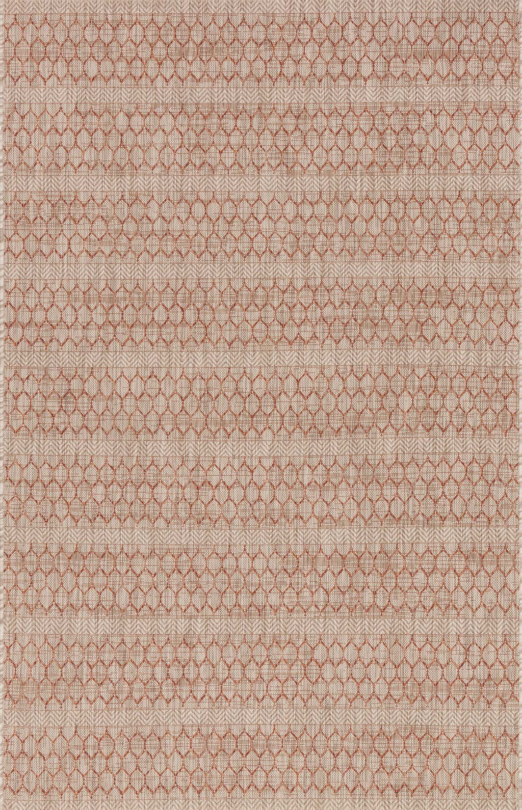 ISLE Collection Rug  in  BEIGE / RUST Beige Small Power-Loomed Polypropylene