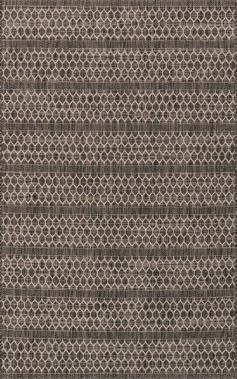 ISLE Collection Rug  in  BLACK / GREY Black Small Power-Loomed Polypropylene