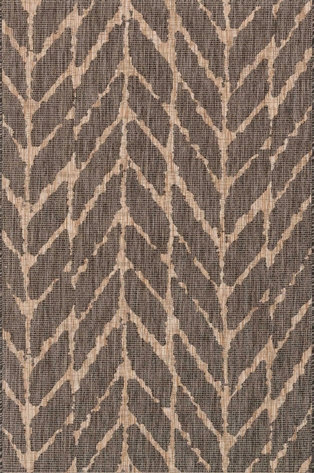 ISLE Collection Rug  in  CHARCOAL / MOCHA Gray Small Power-Loomed Polypropylene