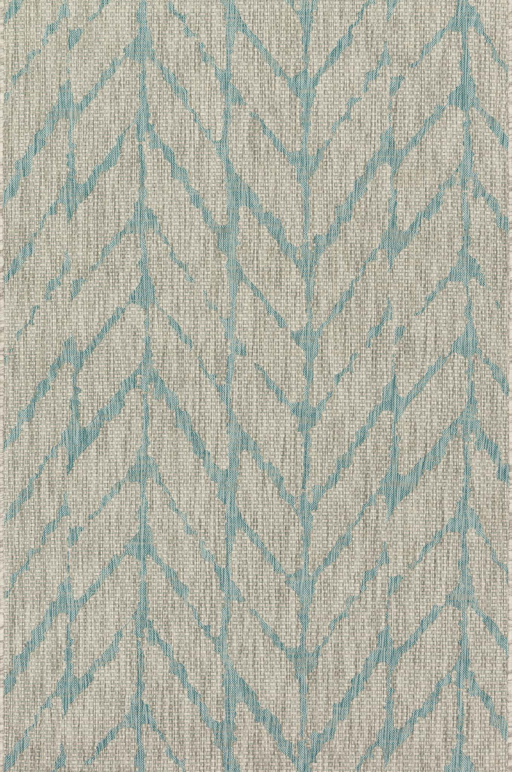 ISLE Collection Rug  in  MIST / AQUA Beige Small Power-Loomed Polypropylene