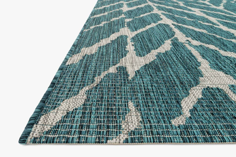 ISLE Collection Rug  in  TEAL / GREY