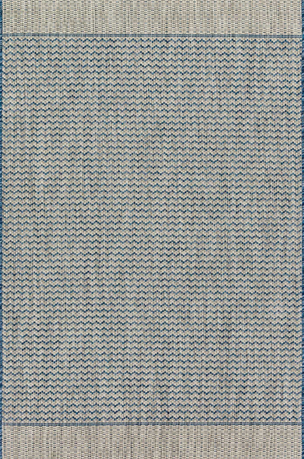 ISLE Collection Rug  in  GREY / BLUE Gray Small Power-Loomed Polypropylene