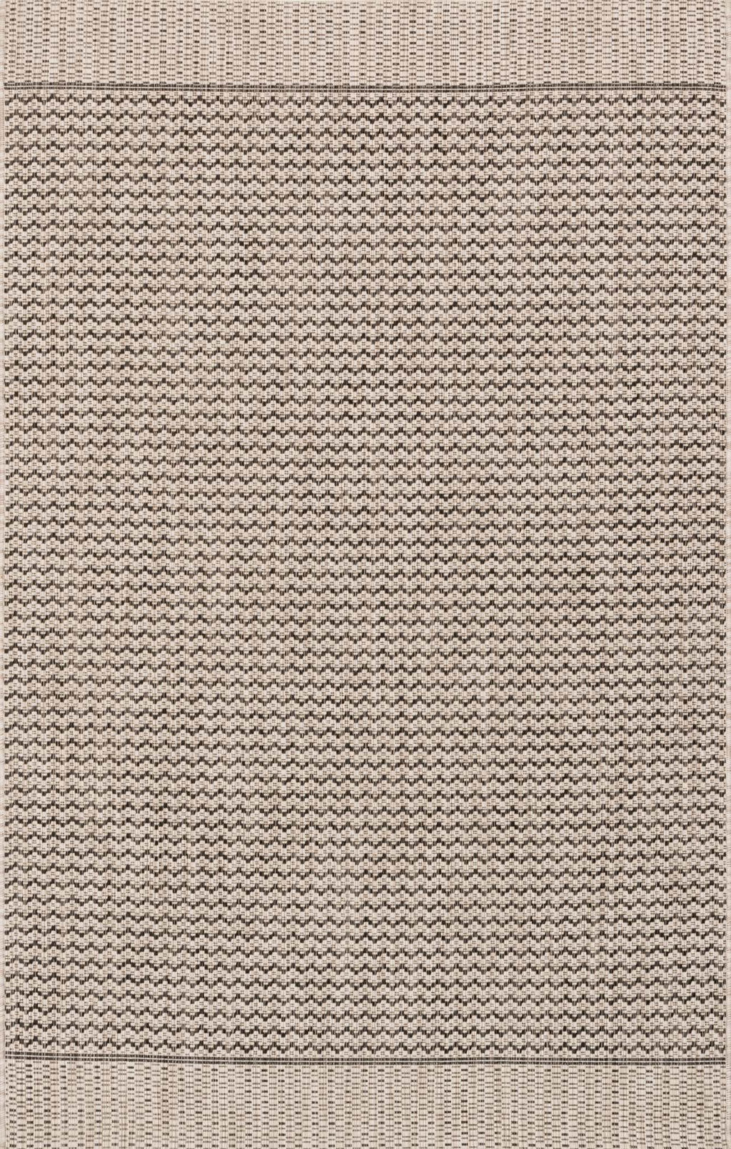 ISLE Collection Rug  in  GREY / BLACK Gray Small Power-Loomed Polypropylene