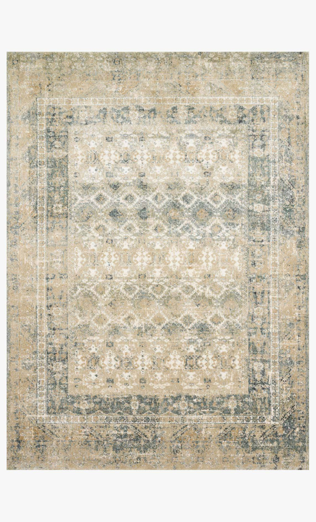 James Collection Rug in SAND / OCEAN