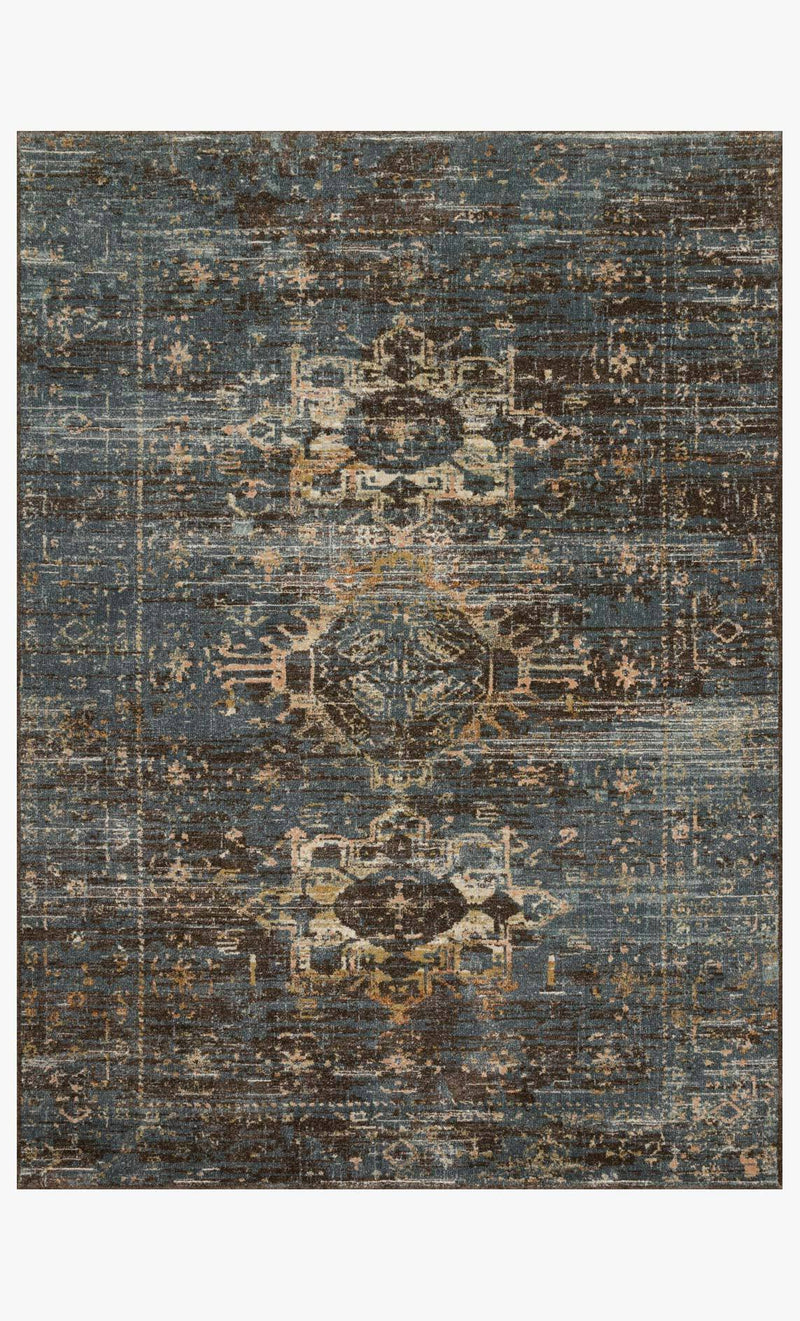 James Collection Rug in MIDNIGHT / SUNSET