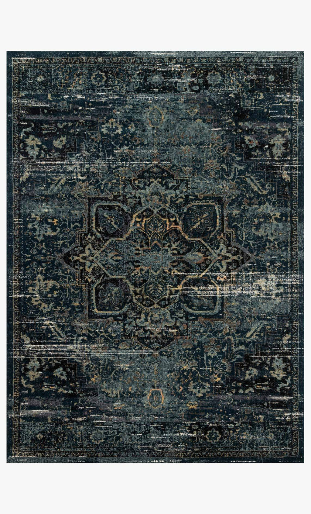 James Collection Rug in OCEAN / ONYX