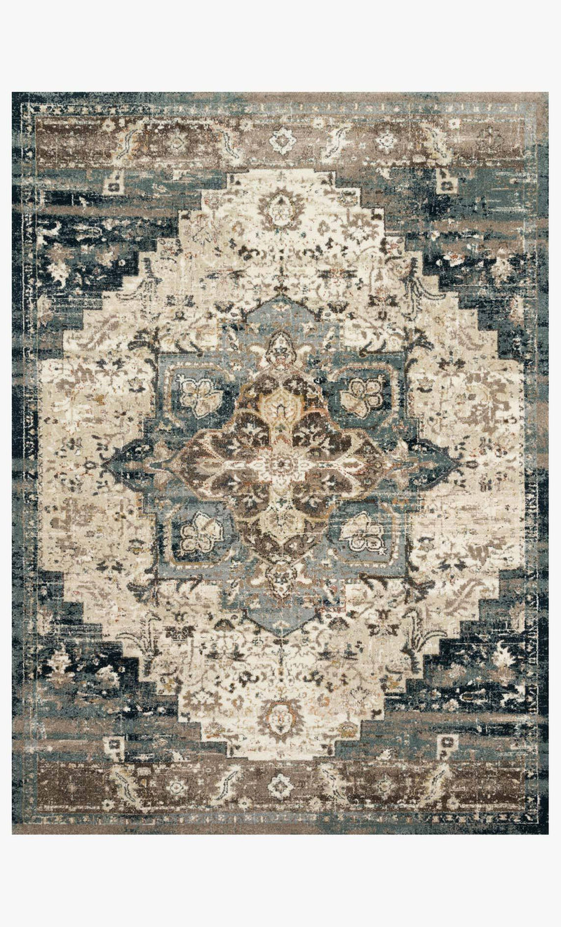 James Collection Rug in TAUPE / MARINE