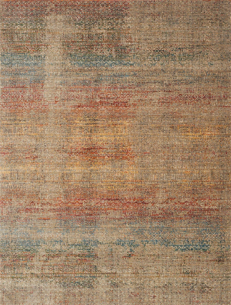 JAVARI Collection Rug  in  SMOKE / PRISM Gray Runner Power-Loomed Polypropylene/Polyester