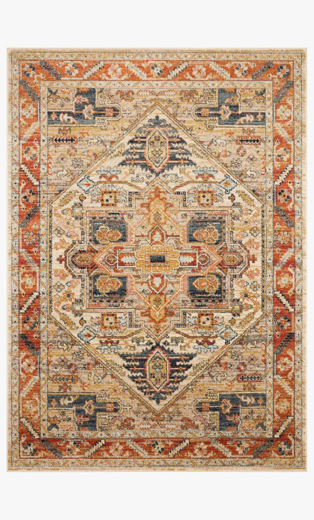 Jocelyn Collection Rug in Sand / Multi