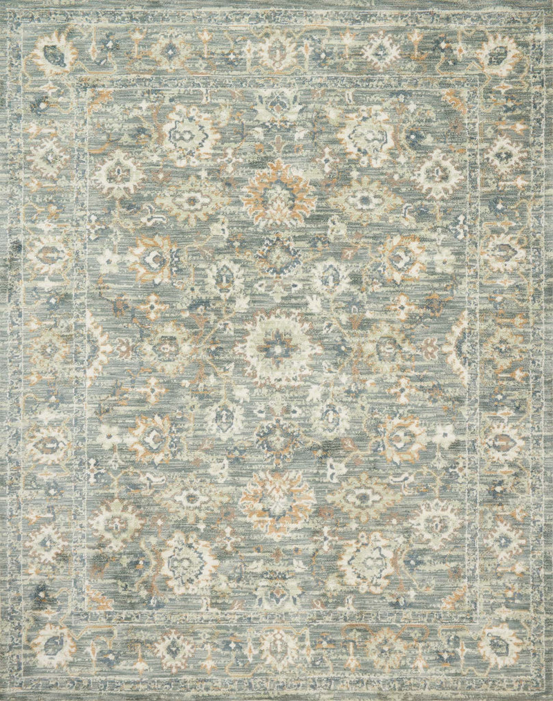 FOLKLORE Collection Rug  in  IVORY / OCEAN