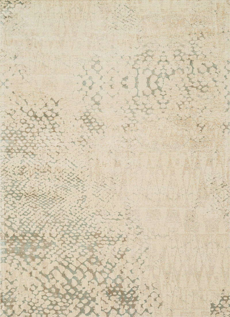 JOURNEY Collection Wool/Viscose Rug  in  IVORY / MULTI Ivory Runner Machine-Made Wool/Viscose
