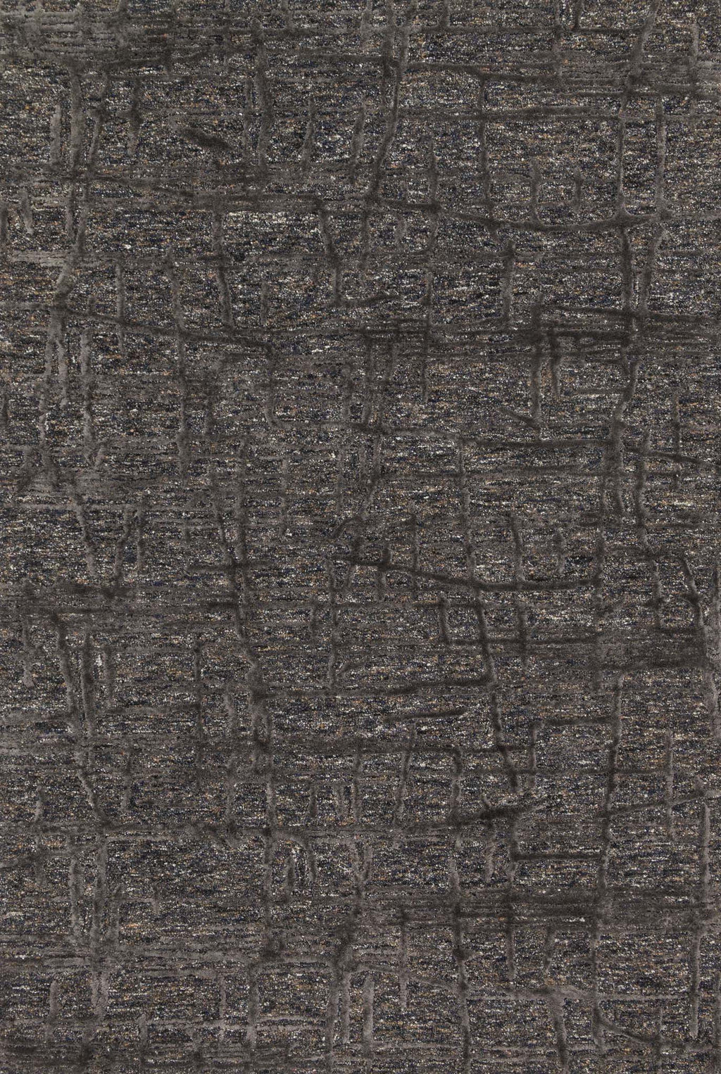JUNEAU Collection Rug  in  CHARCOAL / CHARCOAL Gray Small Hand-Tufted Viscose
