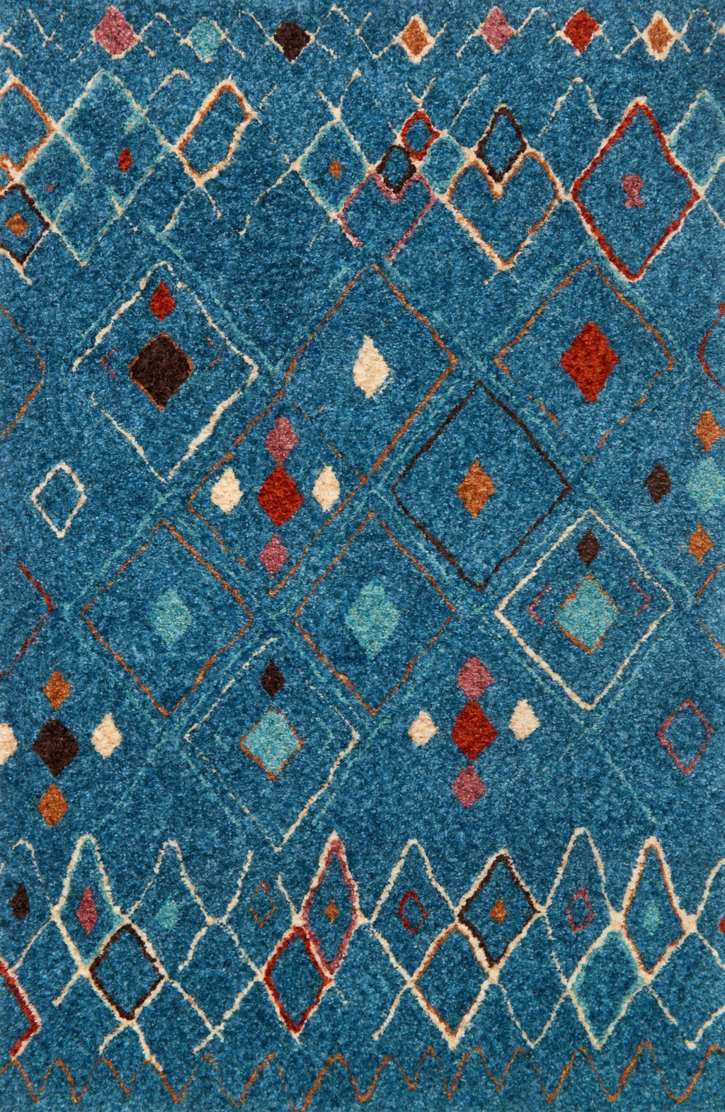 KALLIOPE Collection Rug  in  BLUE / MULTI Blue Small Hand-Woven Polyester