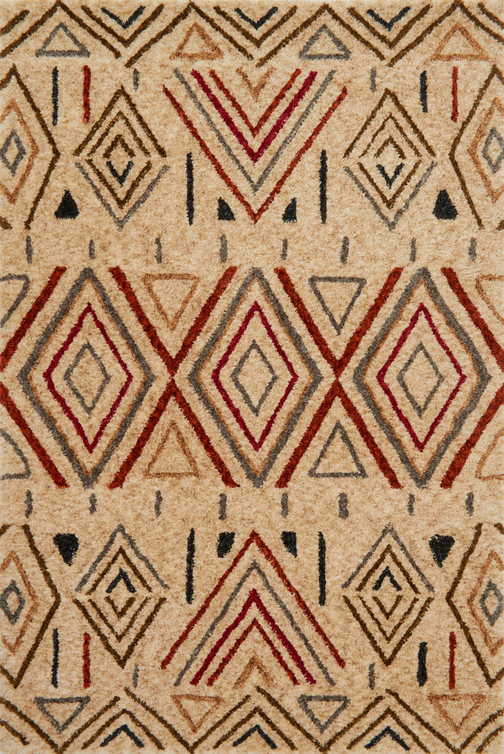 KALLIOPE Collection Rug  in  SAND / RUST Beige Small Hand-Woven Polyester