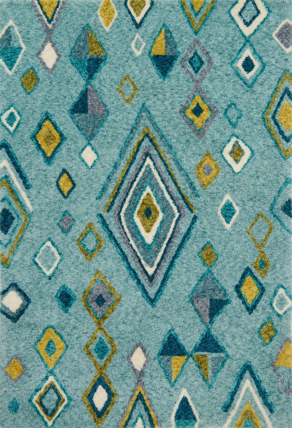 KALLIOPE Collection Rug  in  AQUA / TEAL Blue Small Hand-Woven Polyester