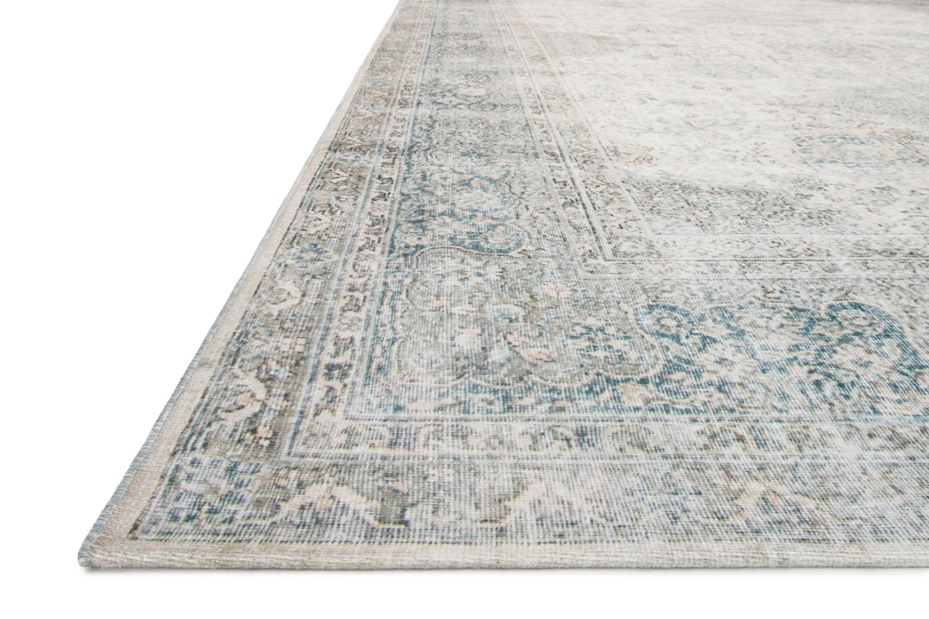 LUCCA Collection Wool/Viscose Rug  in  MIST / IVORY Beige Accent Power-Loomed Wool/Viscose