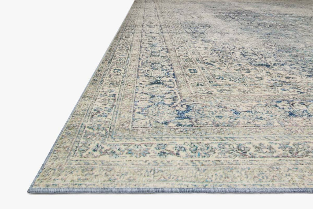 LUCCA Collection Wool/Viscose Rug  in  SKY