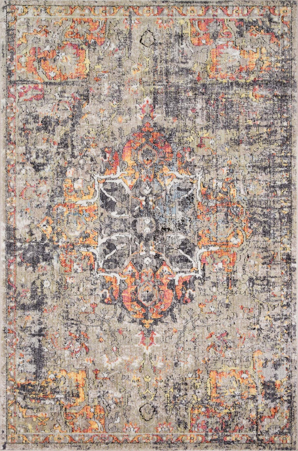MEDUSA Collection Rug  in  TAUPE / SUNSET Beige Runner Power-Loomed Polyester