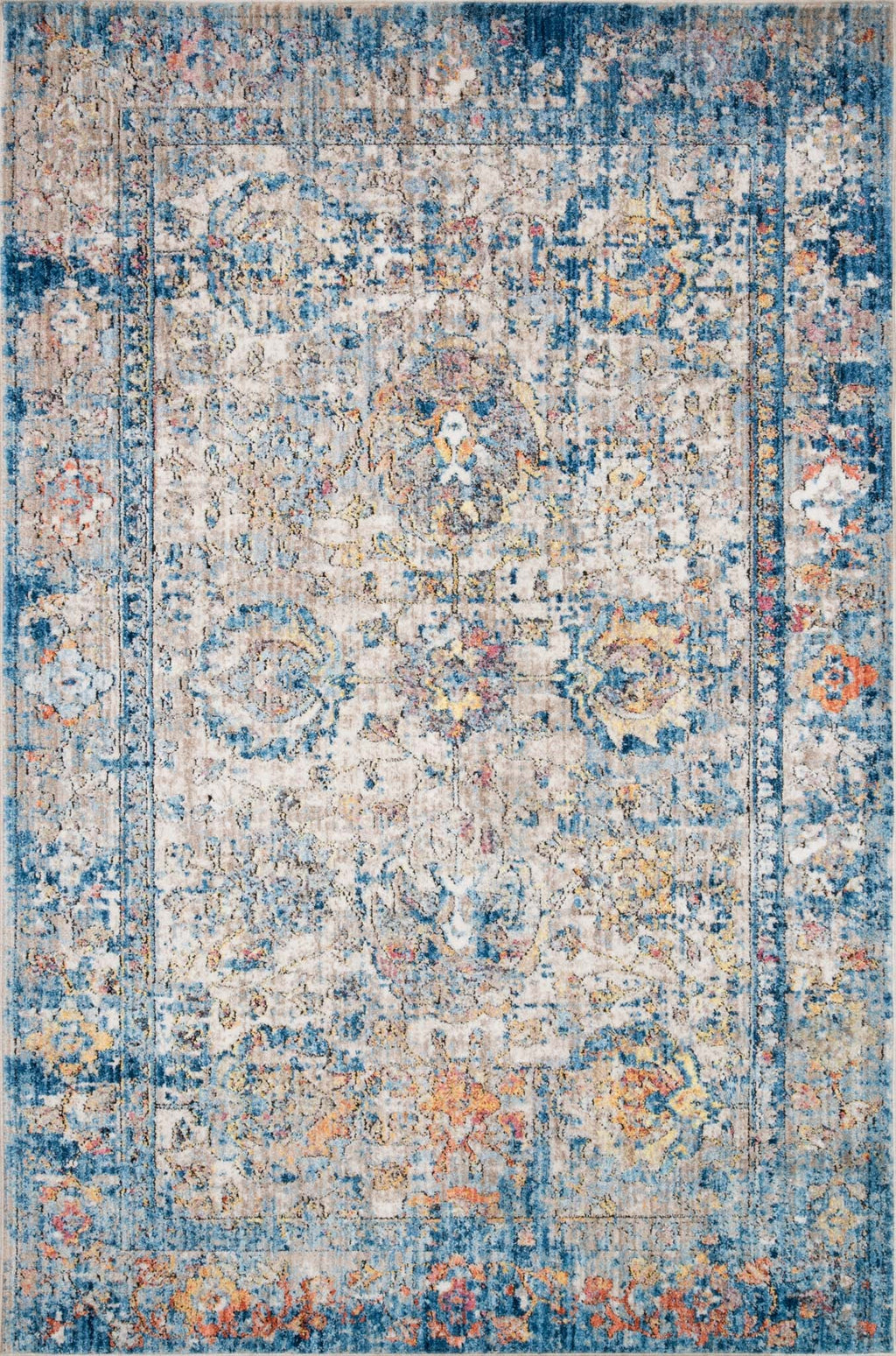MEDUSA Collection Rug  in  BLUE / MULTI Blue Runner Power-Loomed Polyester