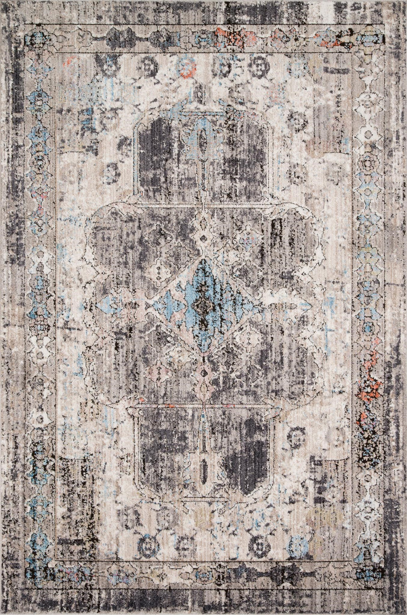 AKINA Collection Wool Rug  in  GREY / CHARCOAL